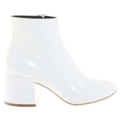MM6 by Maison Margiela stivali di pelle di brevetto