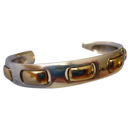 Hermès Bracelet arm silver + gold