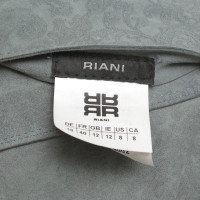Riani Leather jacket in grey / blue