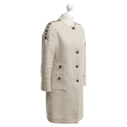 Thomas Rath Bouclé coat in beige