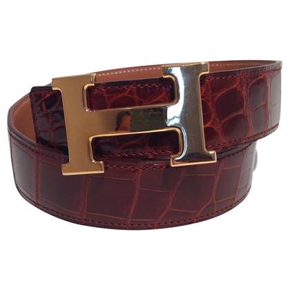 Hermès Gürtel aus Krokodilleder