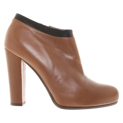L'autre Chose Leather ankle boots in brown