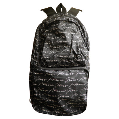 Armani Jeans  Backpack with monogram pattern