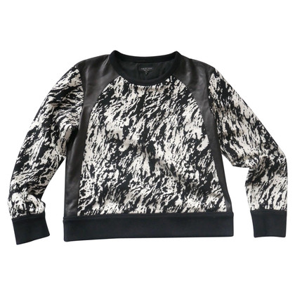 Rag & Bone Leather-trimmed sweatshirt