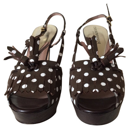 Armani Sandals with dots pattern