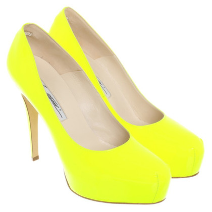 Brian Atwood pumps neon yellow