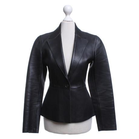 Prada Lederjacke in Schwarz Schwarz Niedrig Versandkosten Für Verkauf  Top-Qualität Verkauf Online Beste Authentisch 05e7097acd