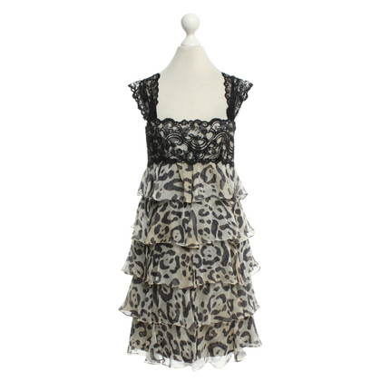 Marchesa Dress with animal print