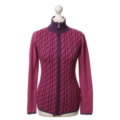 Fendi Strickjacke mit Print