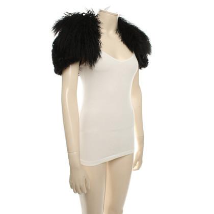 Miu Miu Fur collar in black