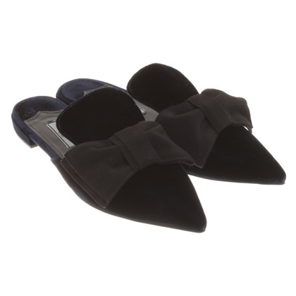 Prada Slipper in donkerblauw