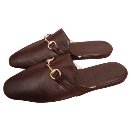 Gucci GUCCI Slipper brown leather