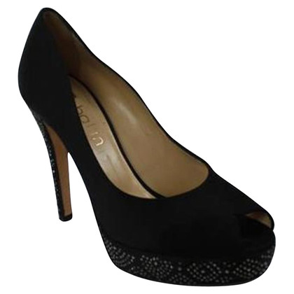 Ballin Glanzende open teen pumps