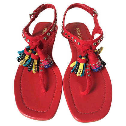 Prada Sandals with tassels