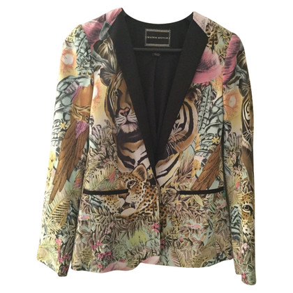 Maison Scotch Blazer with jungle-print