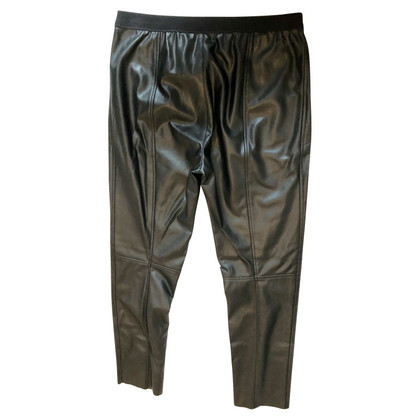 Marc Cain Leather pants in black
