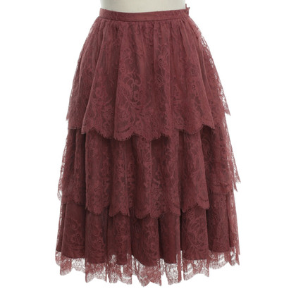 Christian Dior Lace skirt in Berry colours