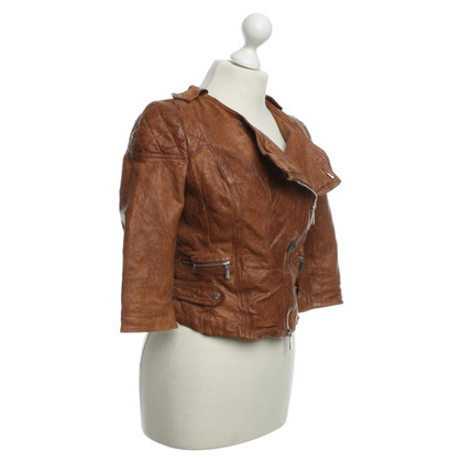 Karen Millen Leather jacket in Brown