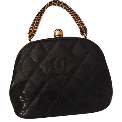 Chanel Vintage hagedis lederen handtas