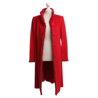 Escada Cappotto con bordo in pelliccia