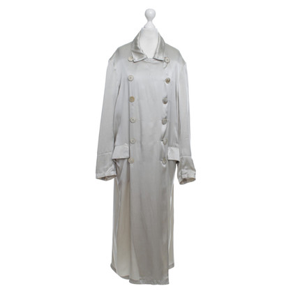 Dries van Noten Silk-coat in beige