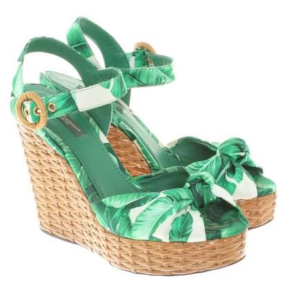 Dolce & Gabbana Wedges in groen
