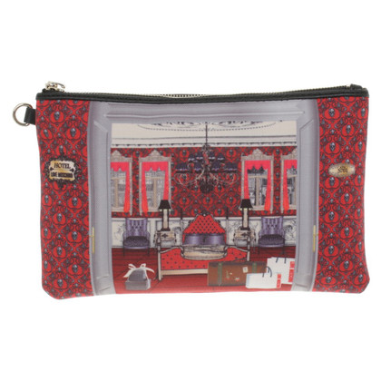 Moschino Love clutch with motif