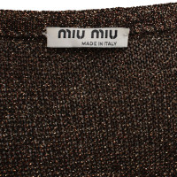 Miu Miu top with gold-colored effect yarn