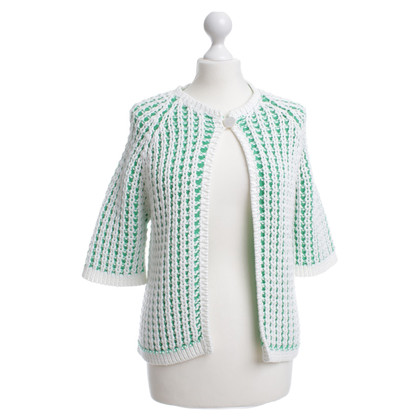 Malo Vest in groen / wit
