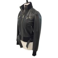 Alexander McQueen Black leather biker jacket