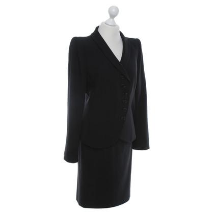 Armani Collezioni costume classique en noir