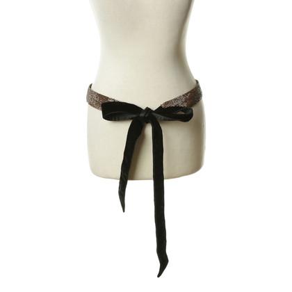 Dolce & Gabbana Cintura in velluto con strass