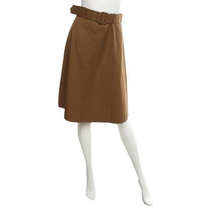 Prada A-line skirt in ocher