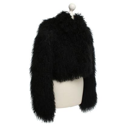 Hugo Boss Lambskin jas in zwart