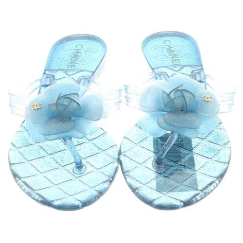 meticolosi processi di tintura personalizzate acquistare Chanel Sandali di gomma - Second hand Chanel Sandali di ...