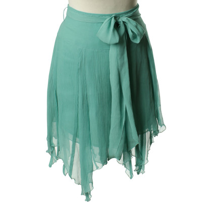 Paul & Joe Silk skirt in turquoise