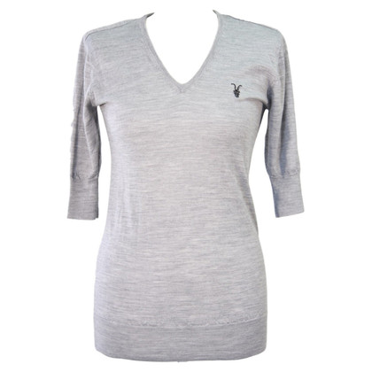 All Saints V-Neck-Pullover in Grau