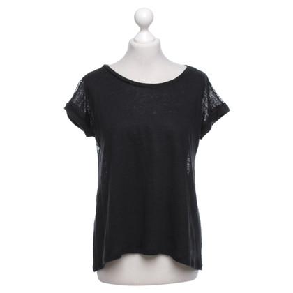 Sandro Linen top in black