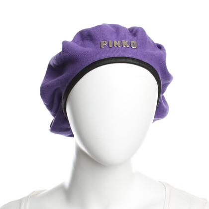 Pinko cappello basco in viola