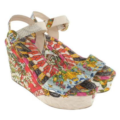 Dolce & Gabbana Wedges met patroon