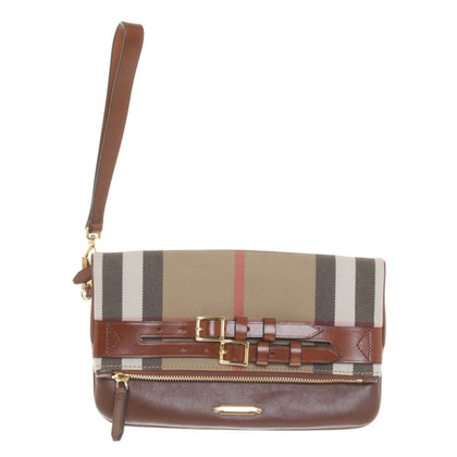 Burberry Clutch mit Nova-Check-Muster