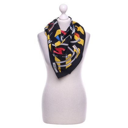 Moschino Silk scarf with tool motif