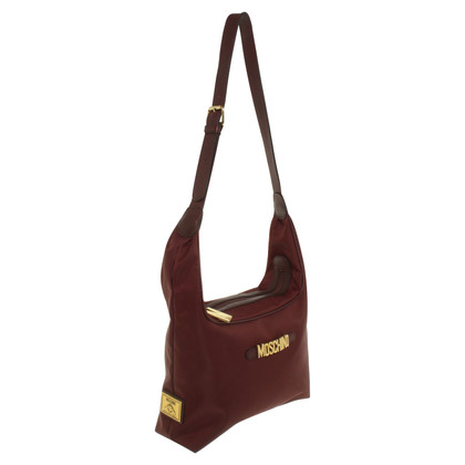 Moschino Schultertasche in Bordeaux