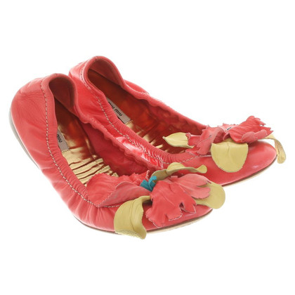 Miu Miu Ballerinas in coral red