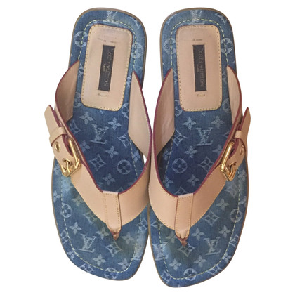 Louis Vuitton Flip flop denim monogram