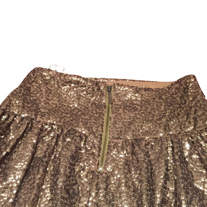 Michael Kors Sequin Jupe d'or