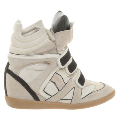Isabel Marant Sneaker-Wedges in beige/zwart