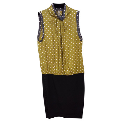 Marc Cain Dotted silk top & skirt