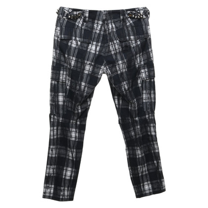 Balmain Pantalon avec motif à carreaux