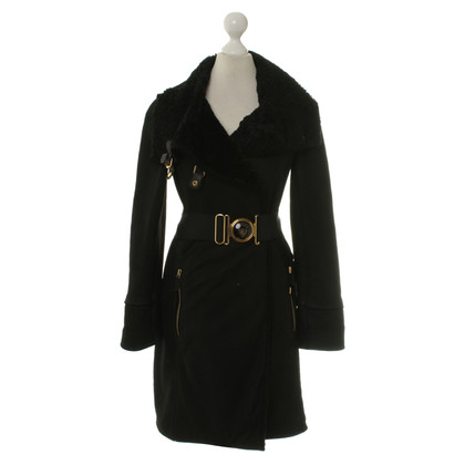 Gucci Sheepskin coat in black